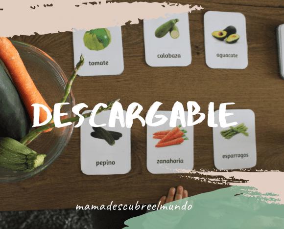 Tarjetas de Frutas y verduras